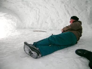 Winter Camping Igloo