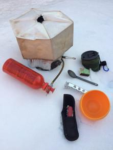 Minimalist winter kitchen