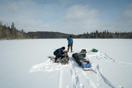 Bena Lake, looking for signal