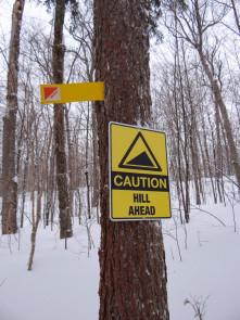 Trail signage along Fen Lake ski trails