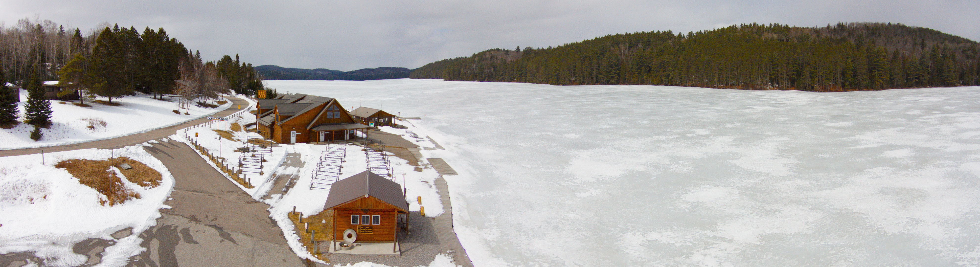 Lake Opeongo Spring Ice observations on March 21st 2016