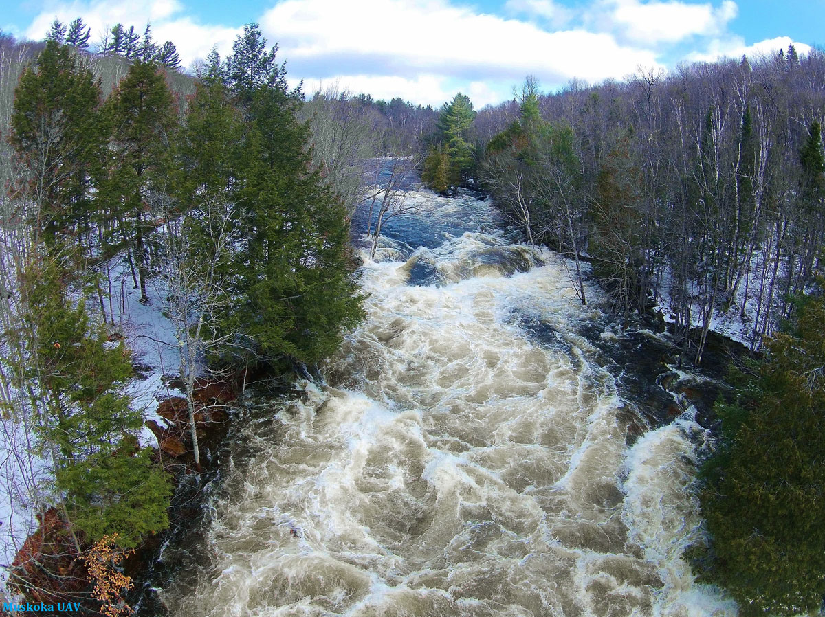 Oxtongue River Rapids Ice Out
