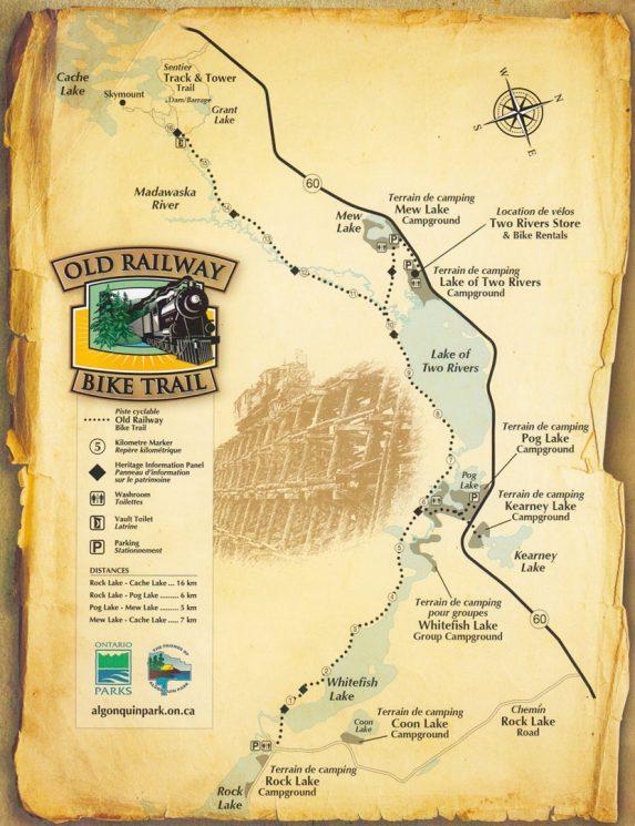 Old Railway Bike Trail Map