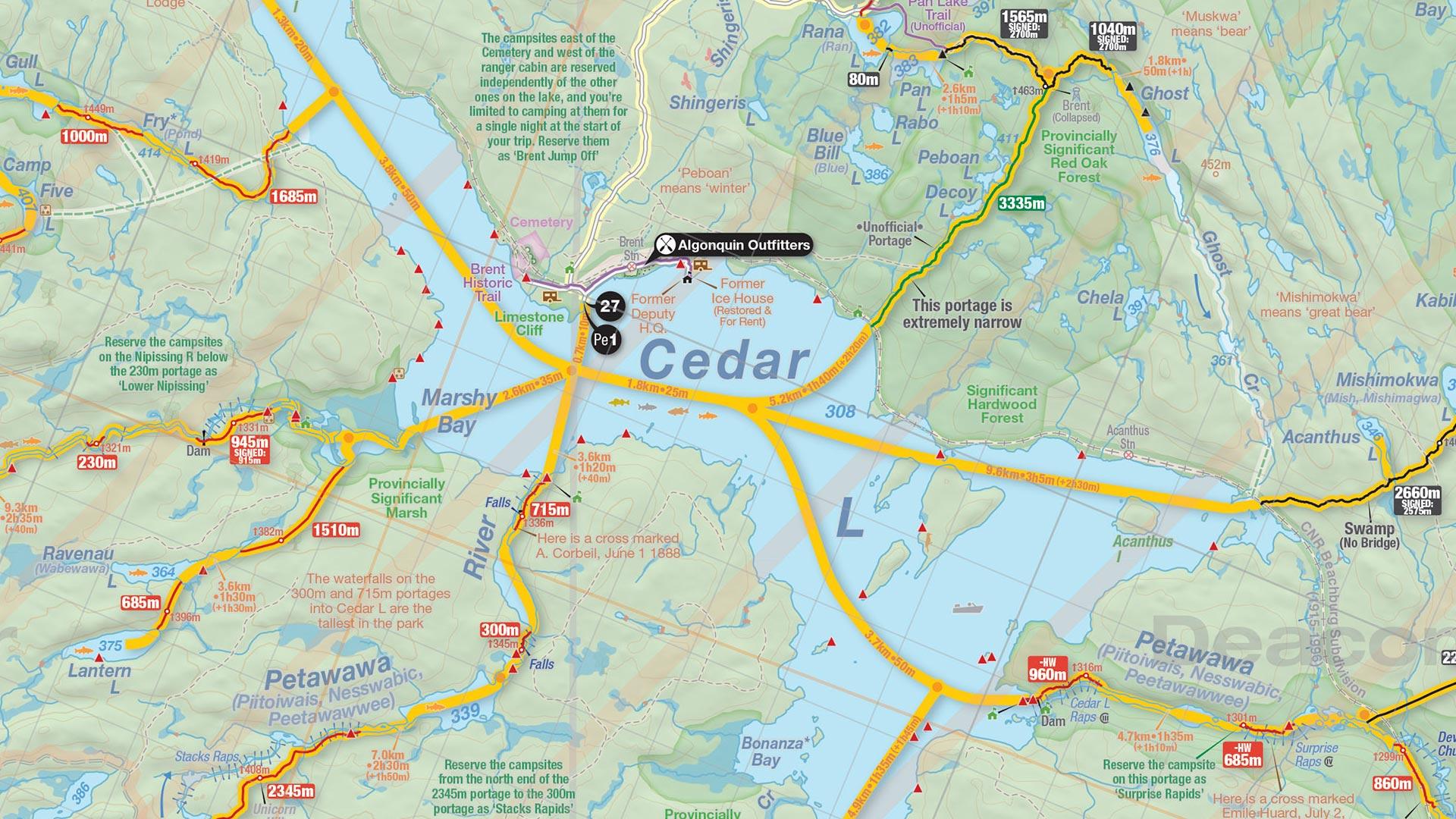 Algonquin Park Map Canoe Routes Shop At