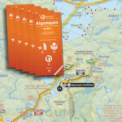 Jeffs Map Algonquin Maps   Algonquin Outfitters   Your Outdoor Adventure Store