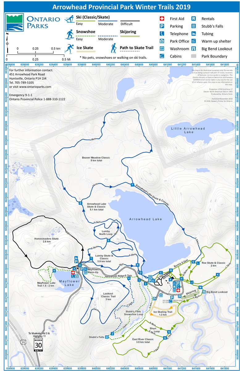 Arrowhead Nordic Ski Trail Map