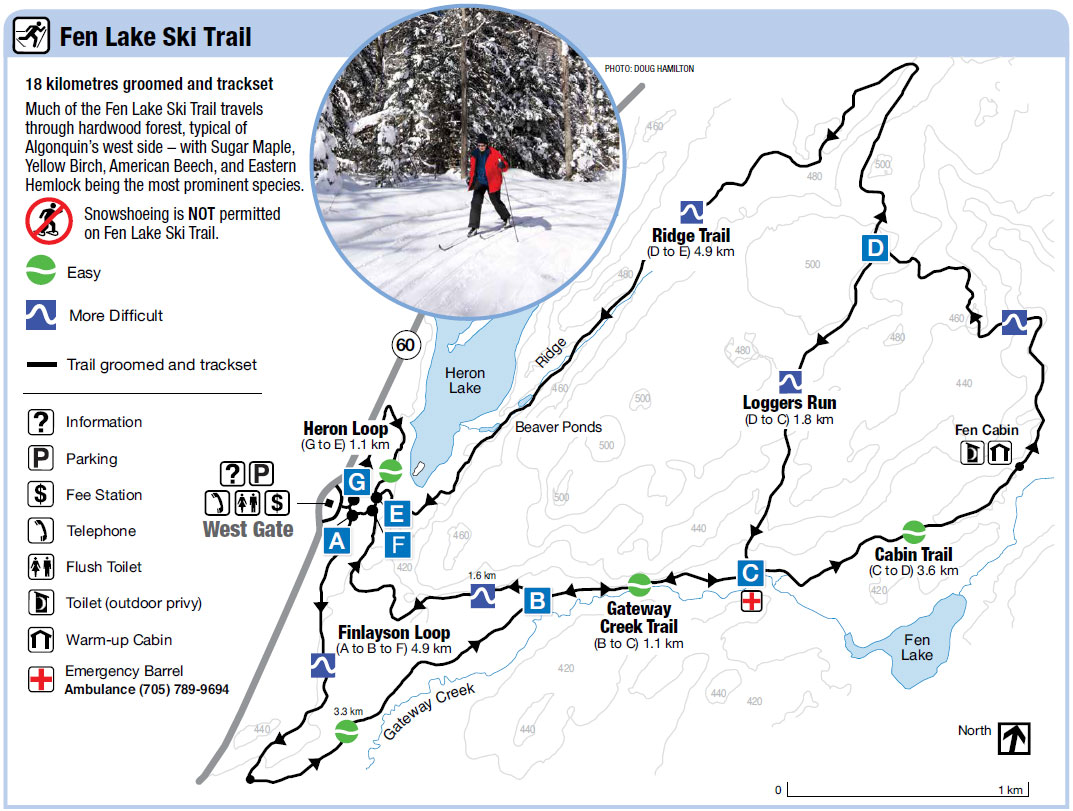 Fen Lake Ski Trail Map