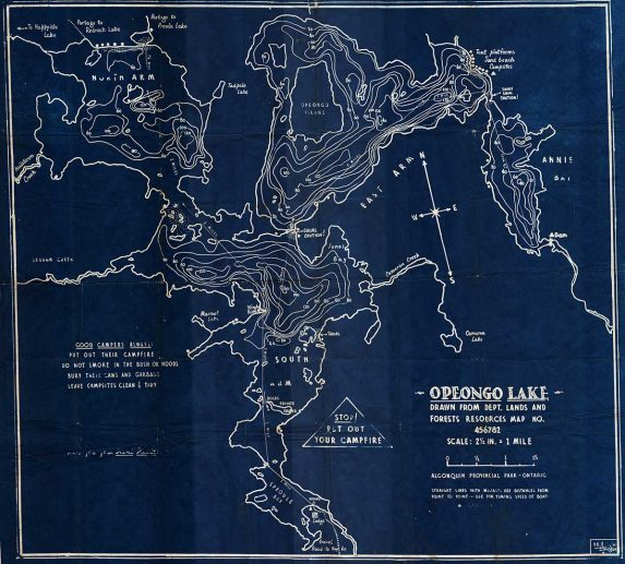 Historic Opeongo Depth Map