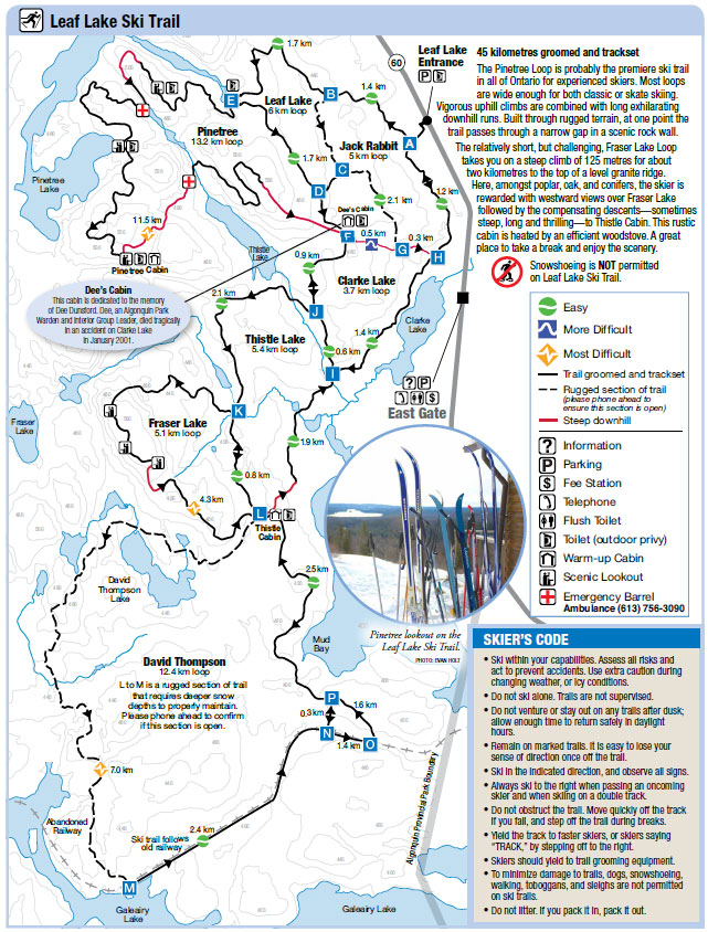 Leaf Lake Ski Trail Map