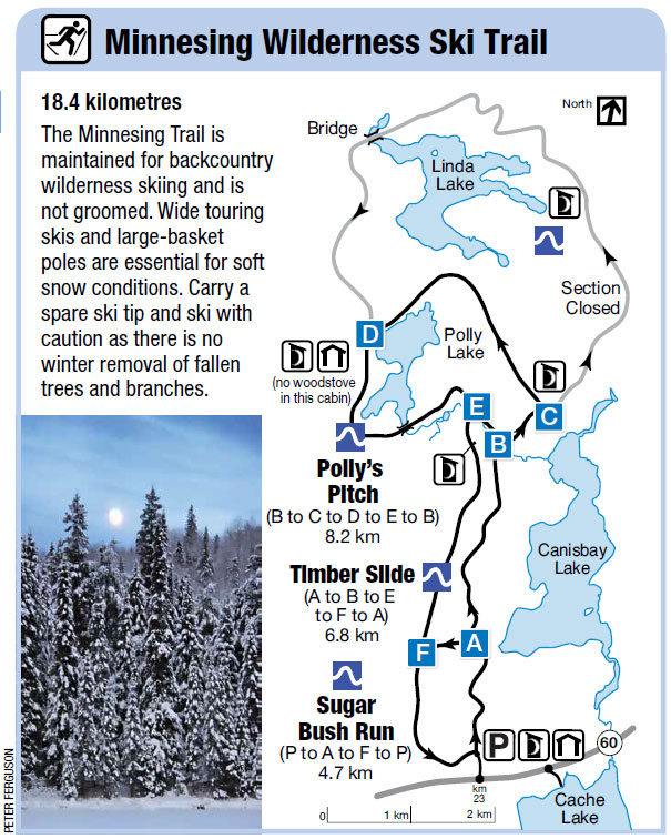 Minnesing Ski Trail Map