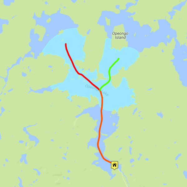 Opeongo Fishing Map