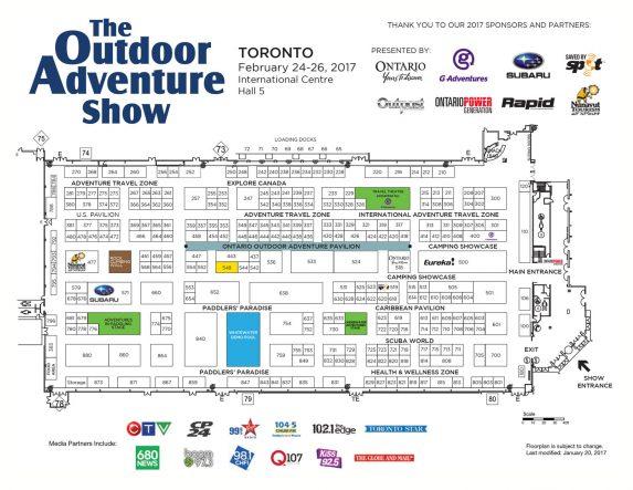 2017 Toronto Outdoor Adventure Show Floor Plan