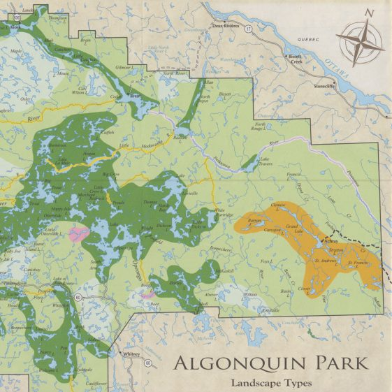 a geography of algonquin park The pattern of lodge development in algonquin park, ontario, canada is outlined using four factors as points for discussion: accessibility, accommodation, advertising and attraction.