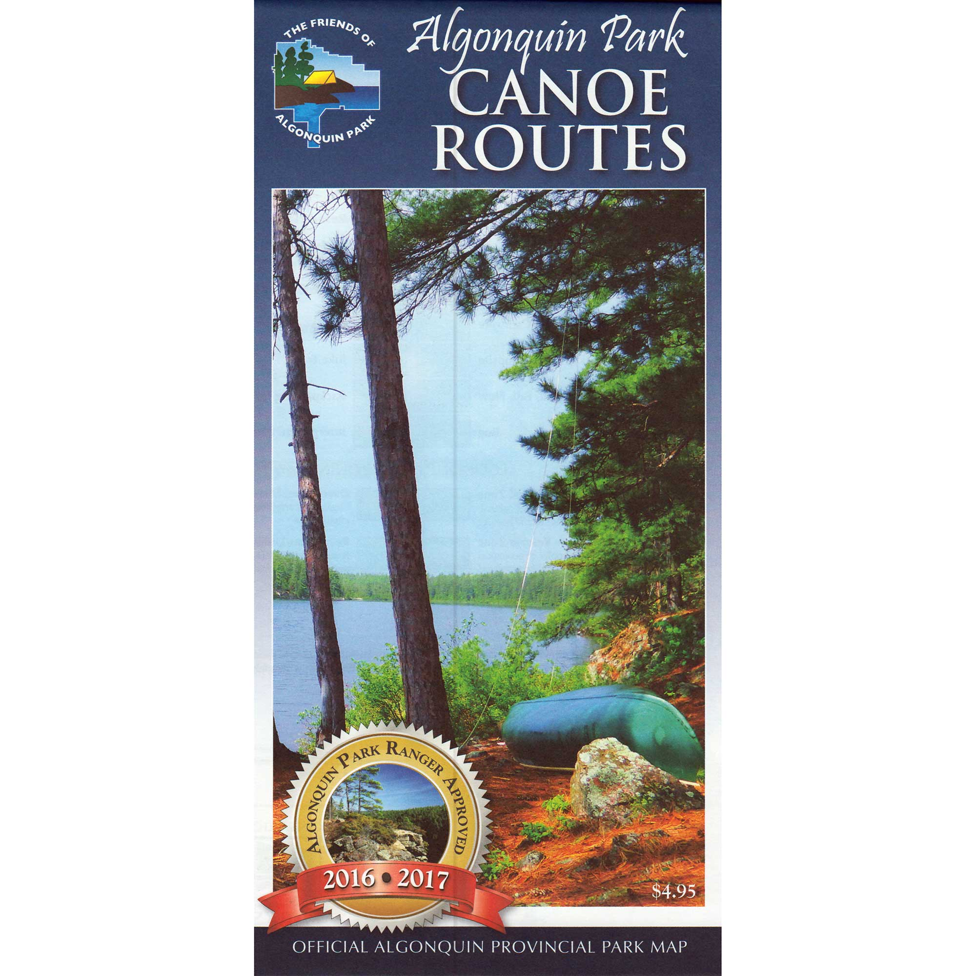 Algonquin Park Canoe Route Map 2016-2017