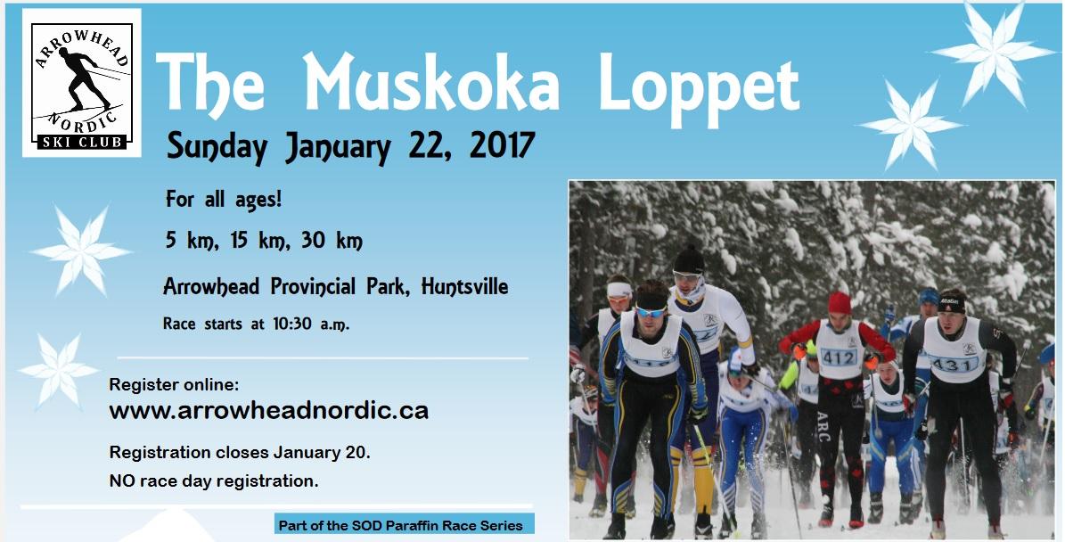 2017 Muskoka Loppet at Arrowhead Park