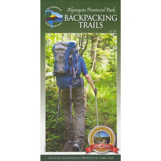 Algonquin Park Backpacking Trails Map