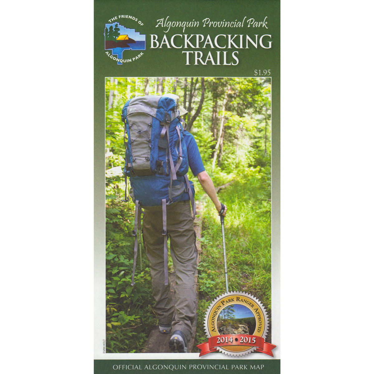 Algonquin Park Backpacking Trails Map