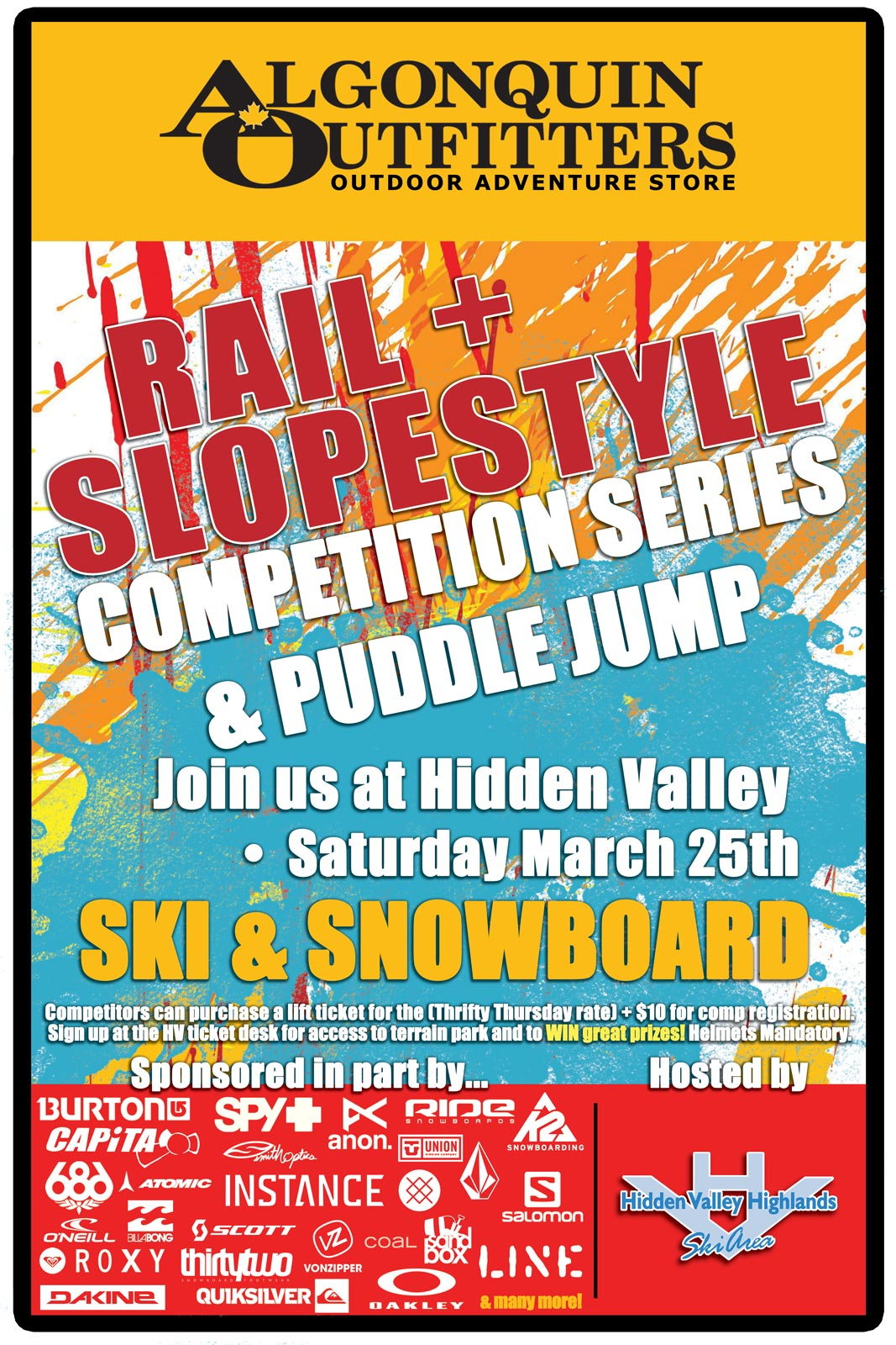 Rail and Slopstyle comp and puddle jump at hidden valley