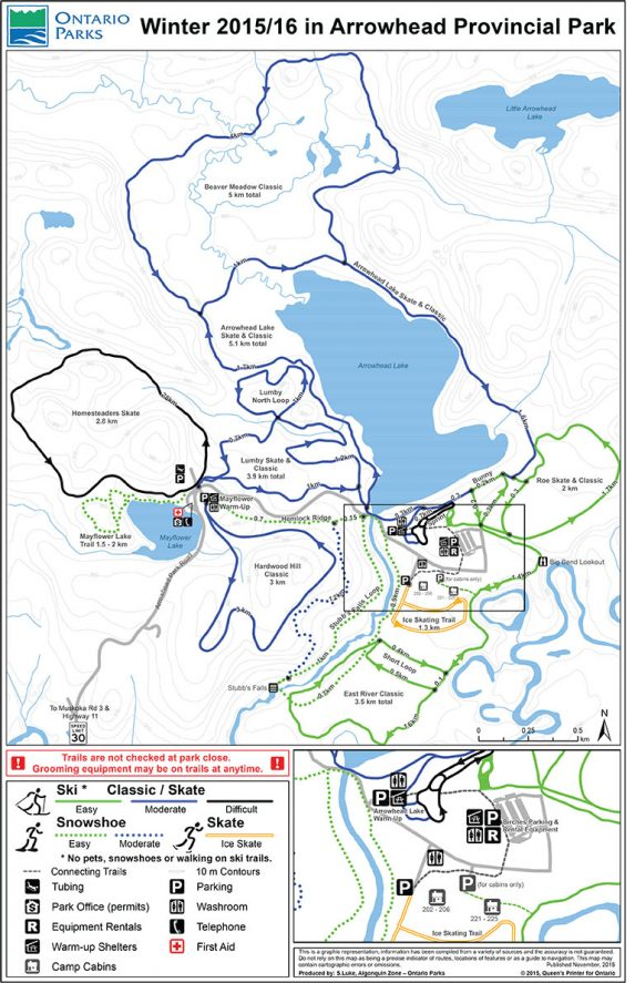 Arrowhead Park Ski Trails Map