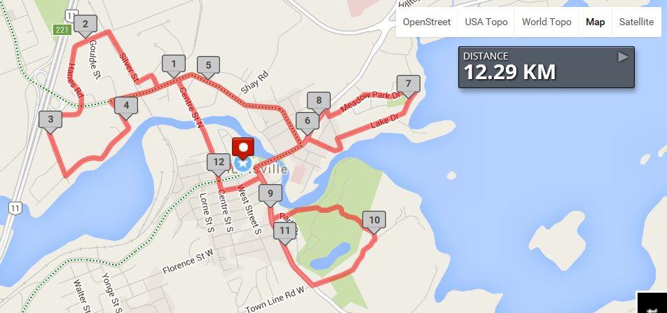 Mayor's Bike Ride Route