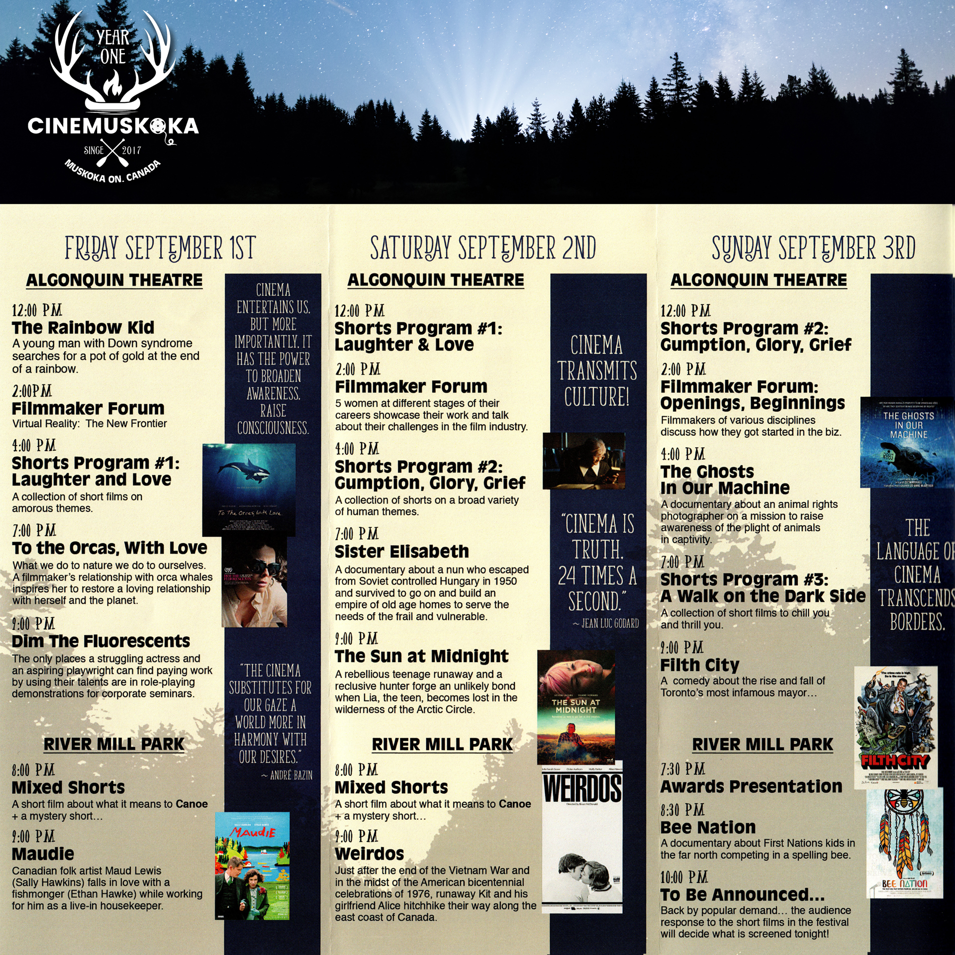CineMuskoka Program Guide 2017