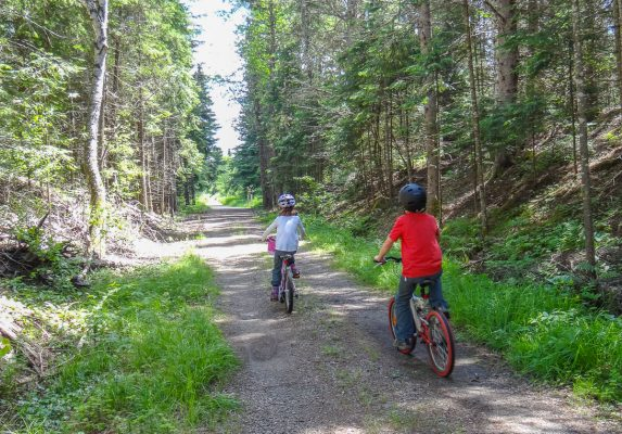 Kids on the Old Railway Bike Trail