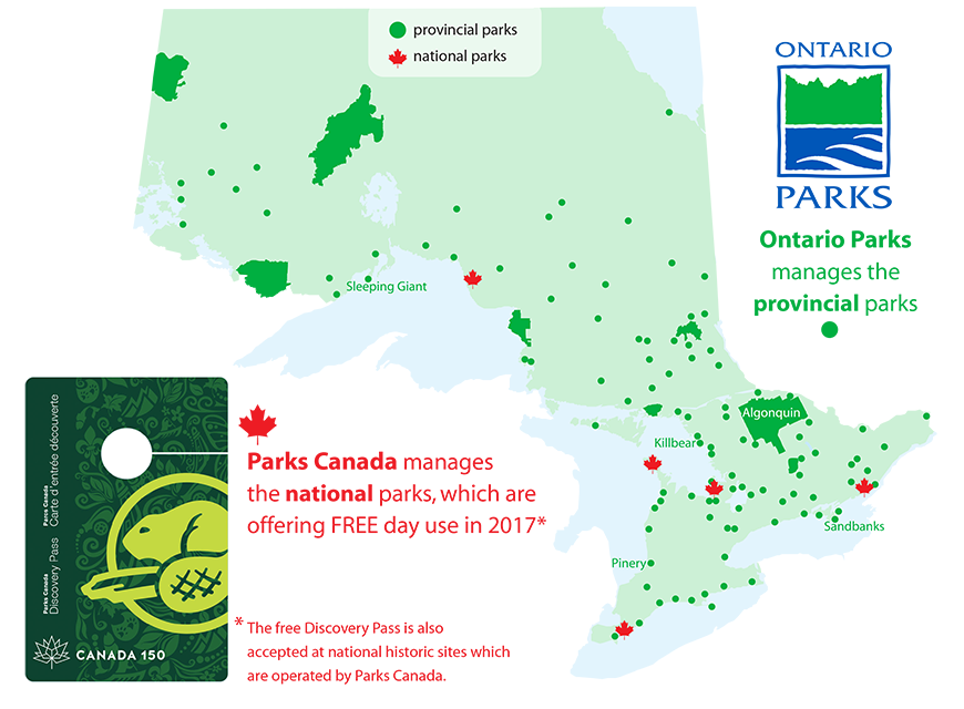 Parks Canada Discovery Pass Map