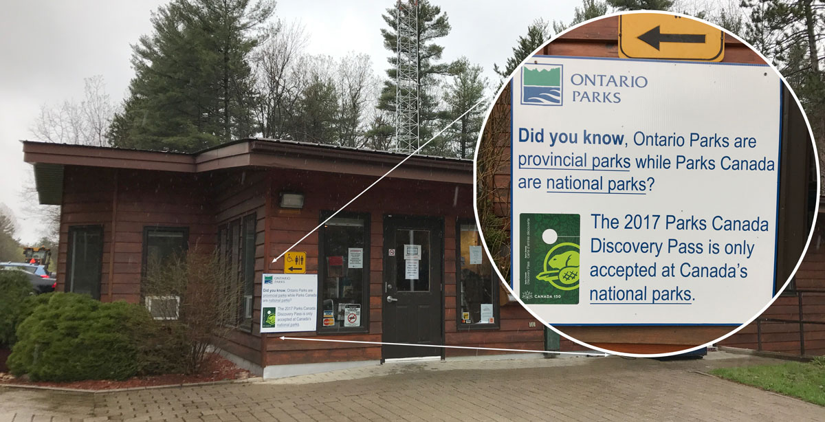 Discovery Pass not for Ontario Parks