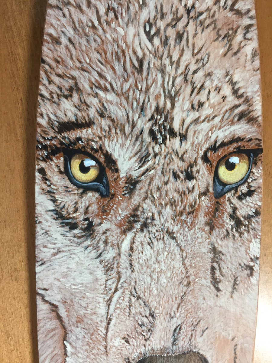 Paddle Art Contest - Wolf by Peter McBurney