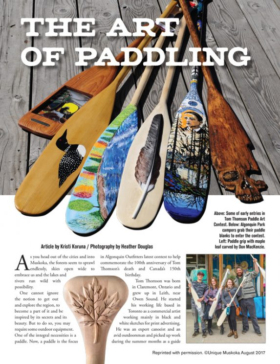 Unique Muskoka The Art of Paddling