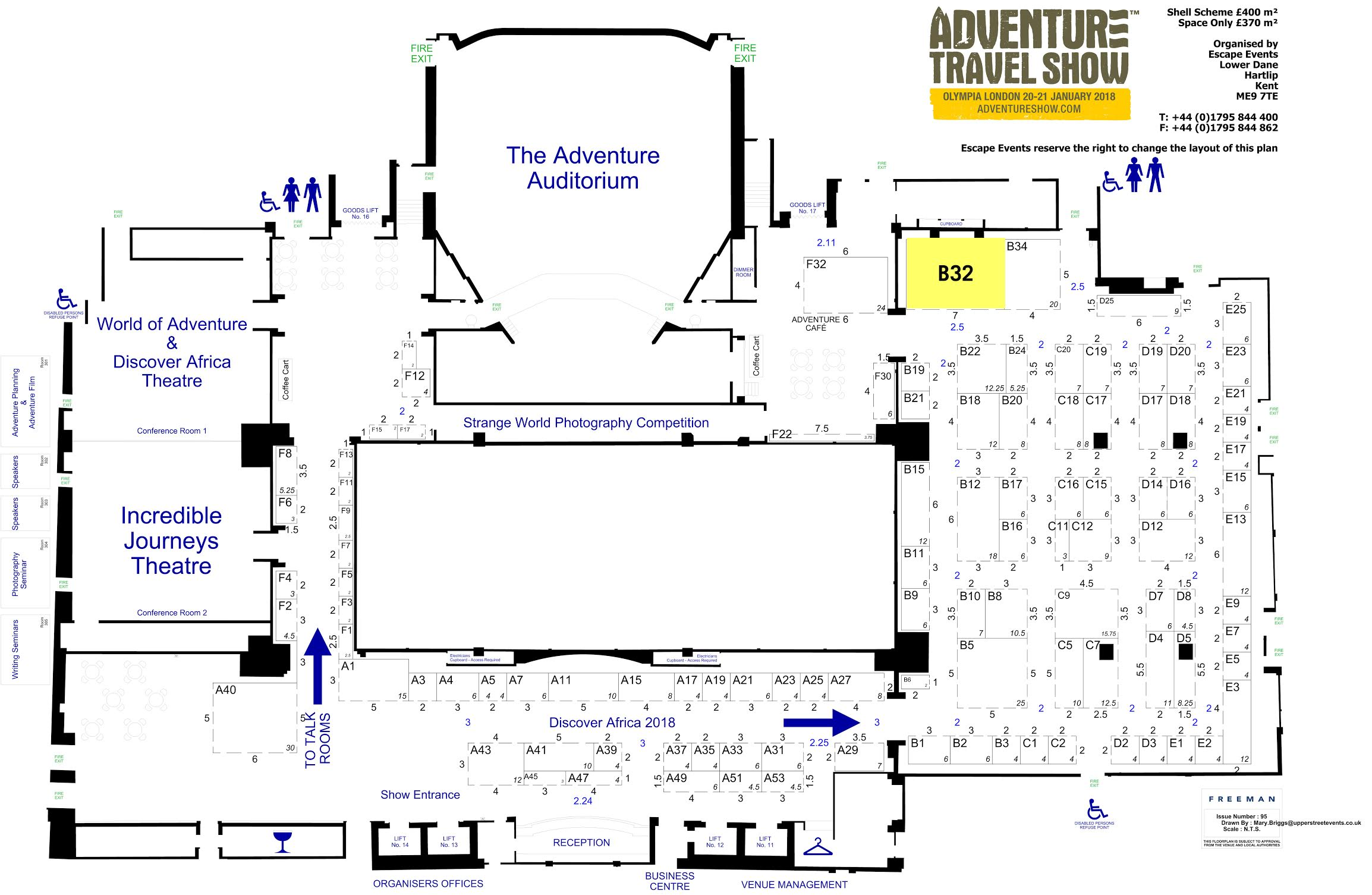 Adventure Travel Show Floor Plan 2018