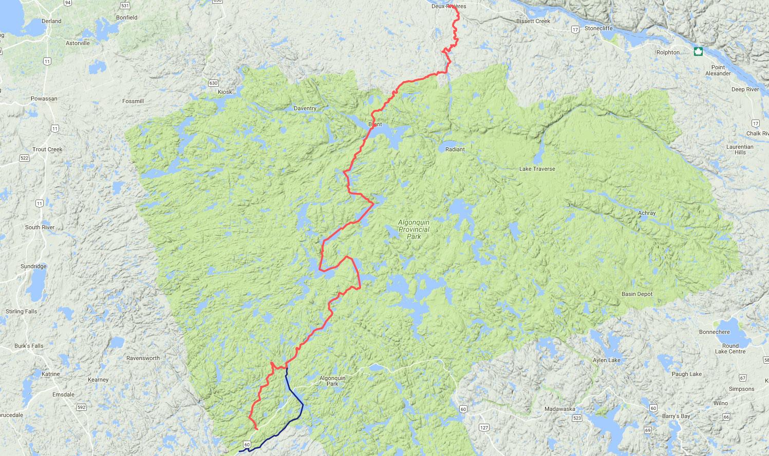 Crossing Algonquin Map