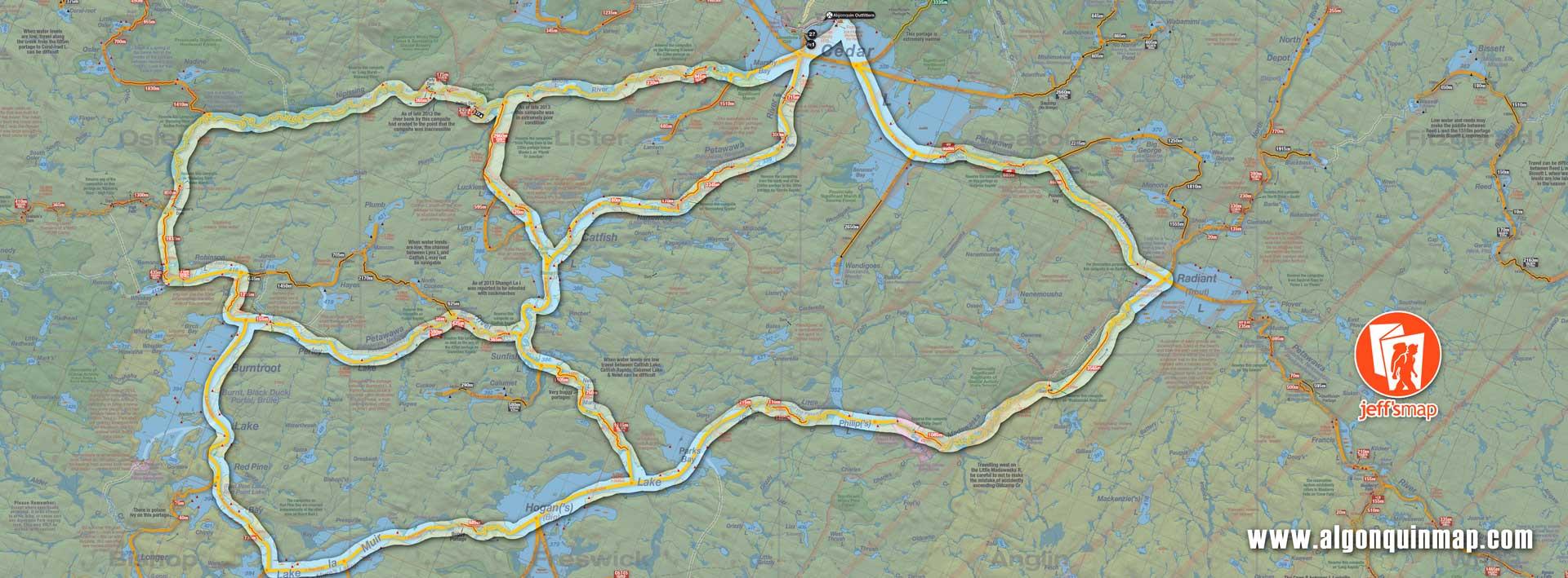 Algonquin Park Canoe Routes North