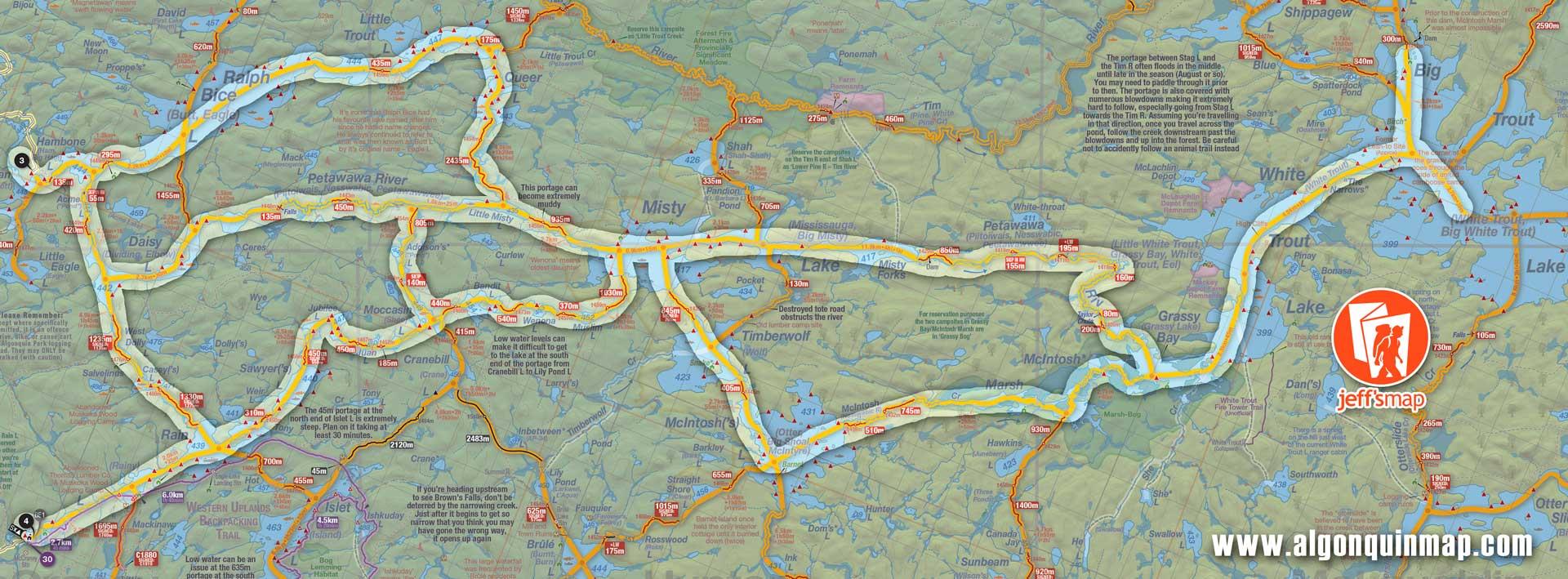 Algonquin Park West Canoe Routes