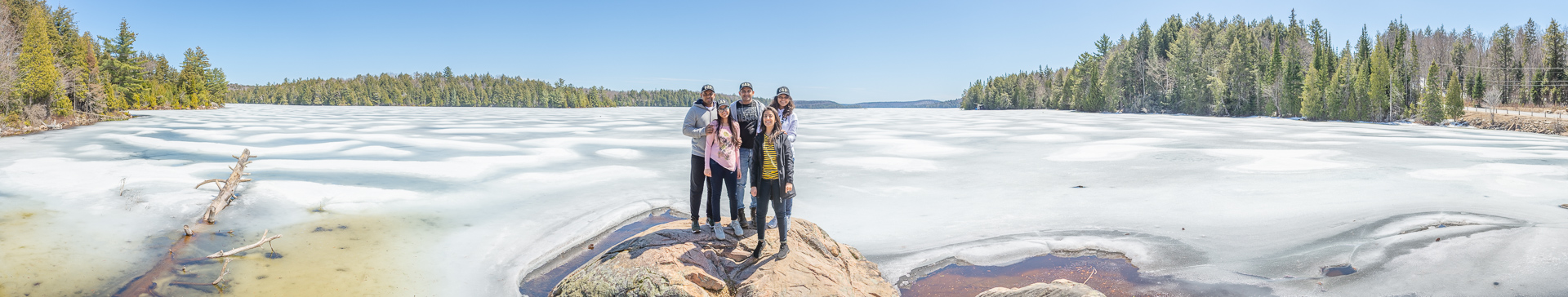 Visiting Smoke Lake point, Algonquin Park