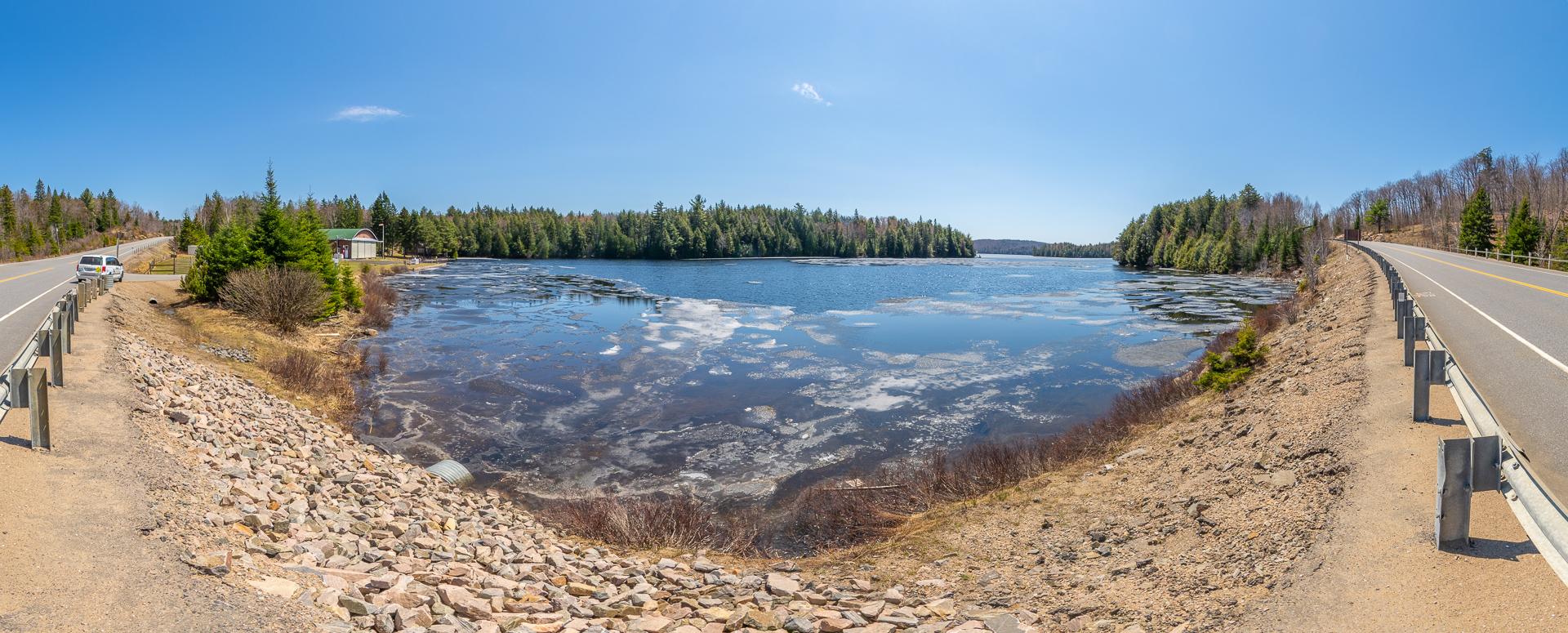 Smoke Lake, float plane bay