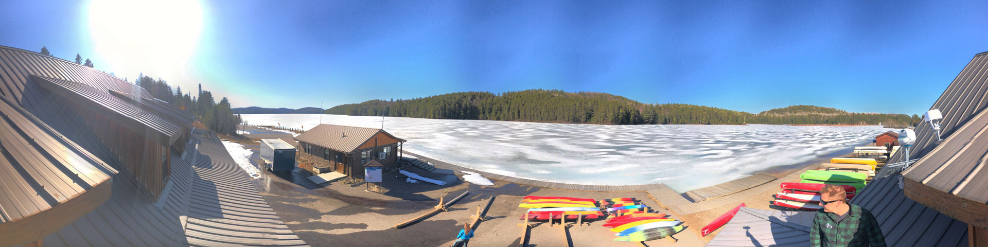 Algonquin Outfitters Lake Opeongo Store - from the roof