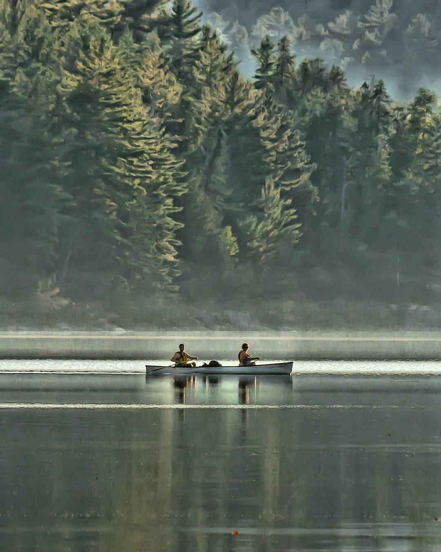 Marc Gravel - Paddlers on Grand Lake Algonquin park