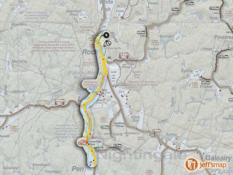Rock to Pen Canoe Route