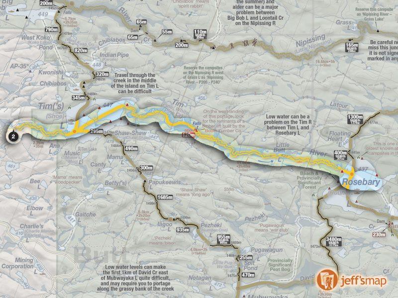 Tim to Rosebary Canoe Route