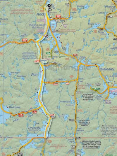 Rock to Clydegale Canoe Route