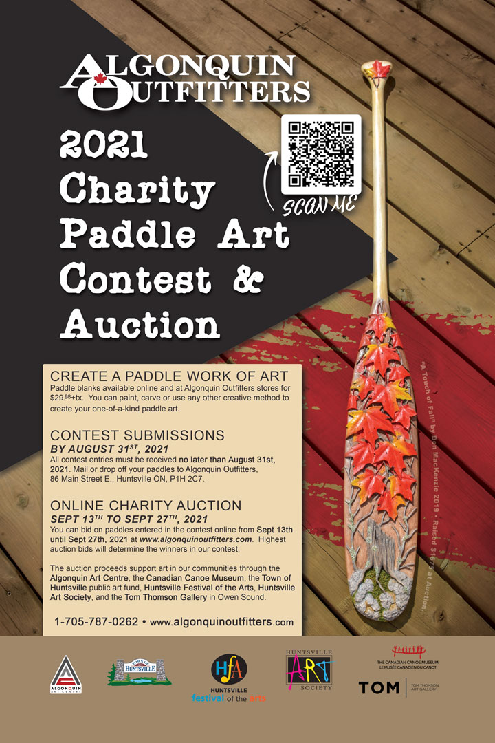 2021 Algonquin Outfitters Paddle Art Contest