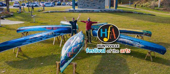 Huntsville Festival of the Arts Group of Seven Canoe Project 2020