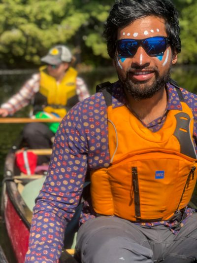 Rohith in his favourite PFD